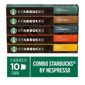 Combo de Cafés Starbucks by Nespresso - 50 cápsulas R$123