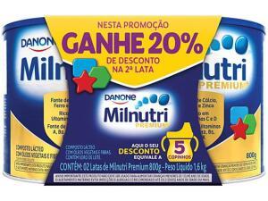 3x Composto Lácteo Milnutri Original Premium+ - 800g 2 Unidades R$146