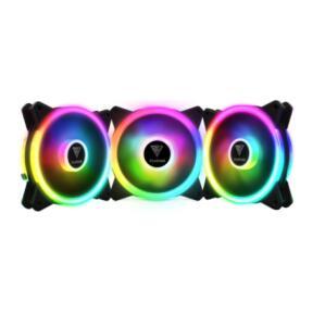 Kit Fan 3 Unidades, Gamdias, AEOLUS M2-1203 LITE, RGB, 120mm | R$120