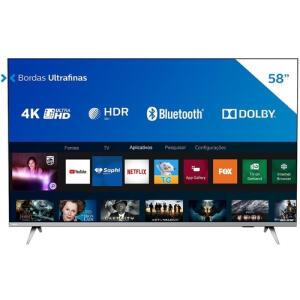 "[App] Smart Tv Philips 58"" 4k Uhd Hdr10+ Dolby 58PUG6654   R$ 2409"
