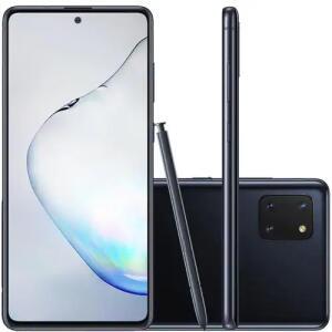 Celular Samsung Galaxy Note 10 Lite Preto 128GB Caneta S Pen Cam 12MP | R$1899