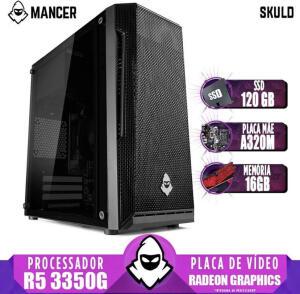 PC Gamer Mancer AMD Ryzen 5 3350G Radeon Graphics Placa Mãe A320M 16GB 120GB 400W