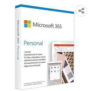 Microsoft 365 Personal Assinatura Anual | 1 Usuário PC, Mac, iOS e Android | R$80
