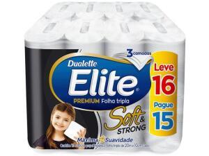 [C. OURO 10 unid.] Papel Higiênico Folha Tripla Elite Soft & Strong - 16 Rolos 20m | R$104