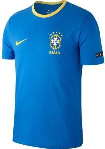 Camisa de Time Nike FUTEBOL CBF M TEE CREST AZUL GG   R$169