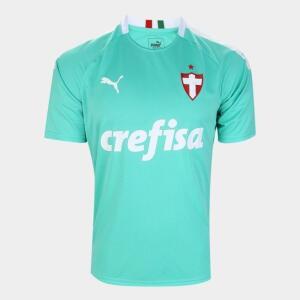 Camisa Palmeiras III 19/20 s/n° - Torcedor Puma Masculina - Verde água - Tam P | R$87