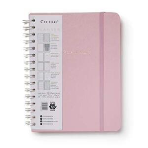 Planner Wire-o Pastel, Rosa, Mensal e Semanal, 75 Folhas, Papel Pólen 80g/m², | R$ 61