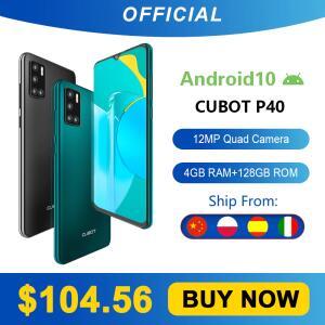 Smartphone Cubot P40 4GB + 128GB NFC 4200mAh | R$529