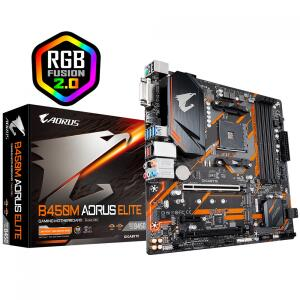 Placa Mãe Gigabyte B450M AORUS ELITE, AMD AM4  R$779