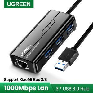 Adaptador de rede Ugreen ethernet USB 3.0 2.0 para rj45 hub   R$79