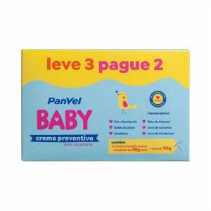 Creme Preventivo para Assaduras Panvel Baby Leve 3 Pague 2 30g Cada | R$19