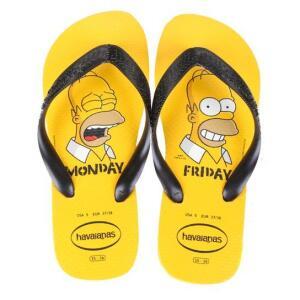 Chinelo Havaianas Estampado Os Simpsons - Ouro | R$ 23