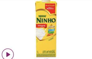 (CLIENTE OURO) Leite integral Ninho 1 lt | R$1,72