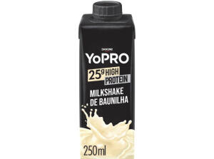 App + Ouro | Bebida Láctea YoPRO Milkshake de Baunilha - Sem Lactose Zero Açúcar 250ml | R$3,40