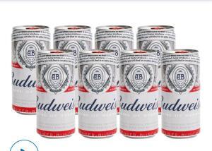 [Cliente Ouro] Cerveja Budweiser 8 latas 269ml - 5 packs por R$14,90