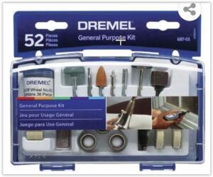 Kit para Micro Retífica Dremel EZ-Lock 52 Peças 687-01 DREMEL R$ 90