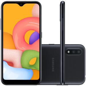 Celular Samsung Galaxy A01 Preto 32GB | R$ 659