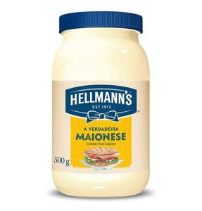 10%off em 5Un. Maionese Hellmann's Tradicional 500g R$4,82