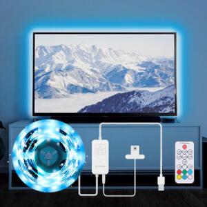 Fita LED BlitzWolf® BW-LT32 2 Metros - Sensor para TV USB RGB | R$112