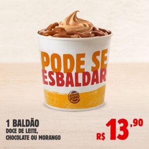 1 Baldão | Doce de leite, Chocolate ou Morango R$14