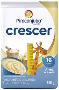 Cereal Infantil Piracanjuba Crescer Arroz Aveia 180g Pouch R$2