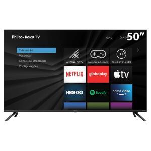 "Smart TV LED 50"" UHD 4K Philco R$2564"