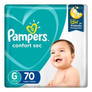 LEVE 3 Fralda Pampers Confort Sec G 70 Unidades - R$ 70