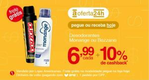 [AME R$6,29] Desodorantes Monange ou Bozzano (diversos) | R$7