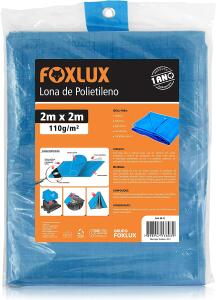 Lona de Polietileno Foxlux Azul 2mx2m – 150 micras | R$25
