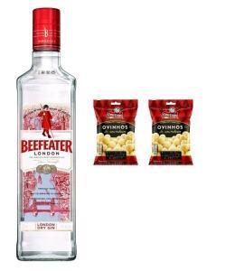 [APP + C. OURO] Kit Gin Beefeater 750ml + 2 Amendoim Ovinhos 170g   R$68