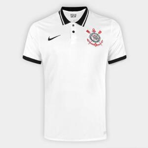 Camisa Corinthians I 20/21 s/n° Torcedor Nike Masculina - Branco e Preto | R$160