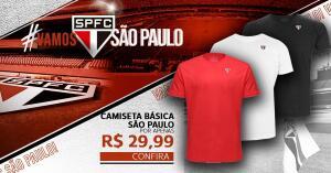 Camiseta São Paulo Básica Masculina | R$30