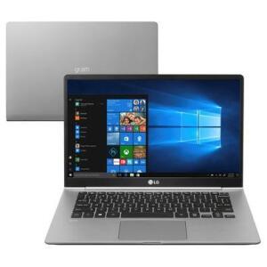 "Notebook LG Gram i5-8250U, 8GB, SSD 256GB, W10, 14"" | R$4.600"