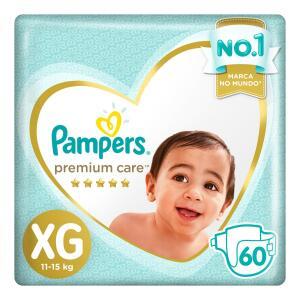 Fralda Pampers Premium Care XG - 60 Unidades R$73