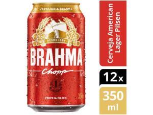 4 Caixas Cerveja Brahma Chopp Lager Pilsen 48 Unidades - 350ml - R$95