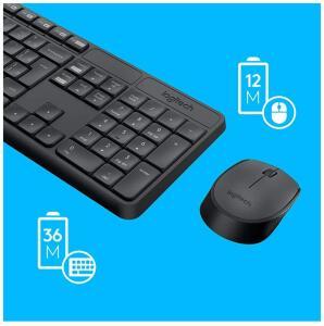 Combo Teclado e Mouse sem fio Logitech MK235 com Conexão USB, Pilhas Inclusas e Layout ABNT2 R$109