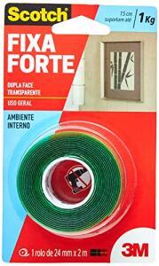 [Prime] Fita Dupla Face 3M Scotch Fixa Forte Transparente - 24 mm x 2 m | R$ 14
