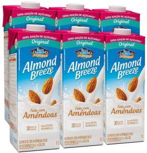 Kit Bebidas de Amêndoas Almond Breeze Zero 6x1L | R$ 30