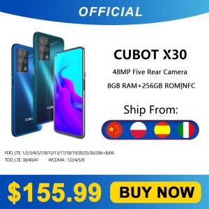 Smartphone Cubot x30 8gb 48mp cinco câmera 32mp | R$862