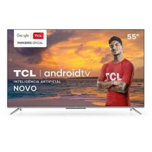 "Smart TV TCL LED Ultra HD 4K 55"" Android TV com Google Assistant - 55P715   R$2599"