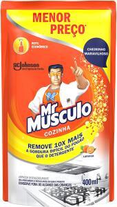 (Prime | recorrente) Desengordurante Mr Músculo Cozinha Refil Laranja 400ml - 5 un | R$22