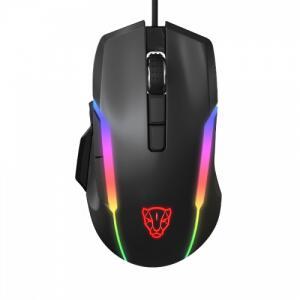 Mouse Gamer Motospeed V90 5000 DPI, RGB Backlight, Black | R$122
