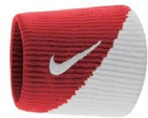 Munhequeira Nike Pequena Dri-Fit Wristbands 2.0 - Vermelha com Branco | R$36