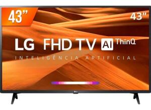 Smart Tv Led Pro 43'' Full Hd LG 43lm 631 3 Hdmi 2 Usb Wifi | R$ 1799