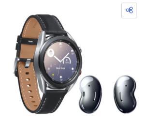 Smartwatch Samsung Galaxy Watch3 LTE + Fone de Ouvido Bluetooth Samsung Galaxy Buds| R$1999
