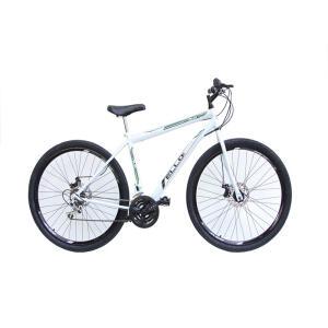 Bicicleta Aro 29 Freio à Disco 21 M Velox Branca/Verde - Ello Bike - R$736