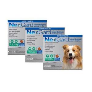 Antipulgas Nexgard G Cães 10 A 25kg 3 Tabletes Kit 3 Caixas R$413