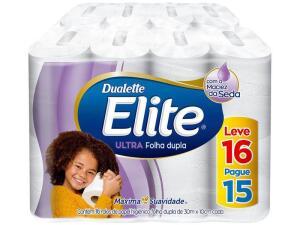 Papel Higiênico Folha Dupla Elite Ultra - 16 Rolos 30m - R$15