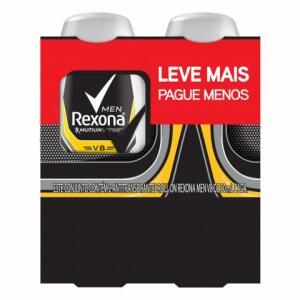 Kit Desodorante Roll-on Rexona Men V8 50ml - 2 unidades | R$8