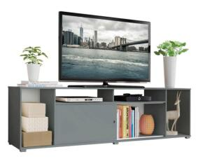 Rack para TV até 65 Polegadas Madesa Cancun - Cinza | R$270